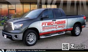 Fred Haas Toyota Country Car Sales Wrap Zebra Wrap Houston Wrap Zebra Wraps Houston