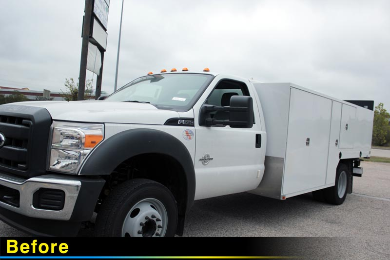 Holes Incorporated Ford F-550 Utility Box Truck Before