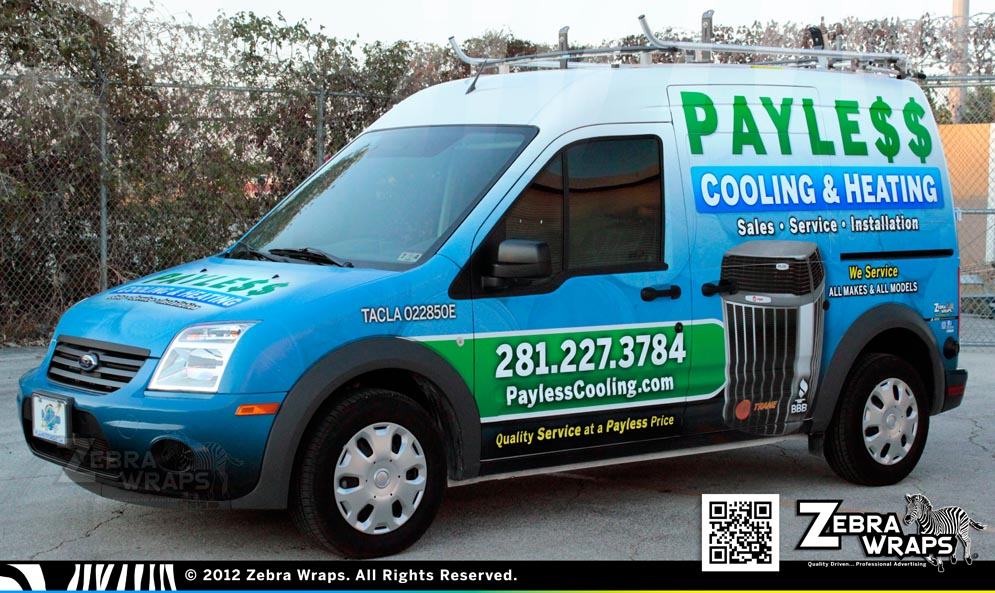 PaylessCooling_Transit_Ford_ZebraWraps_HoustonWraps_Drive