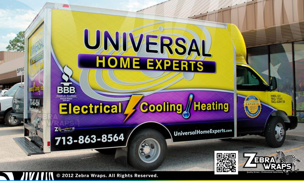 UniversalHomeExperts_BoxVan_Chevy_ZebraWraps_HoustonWraps_Pass