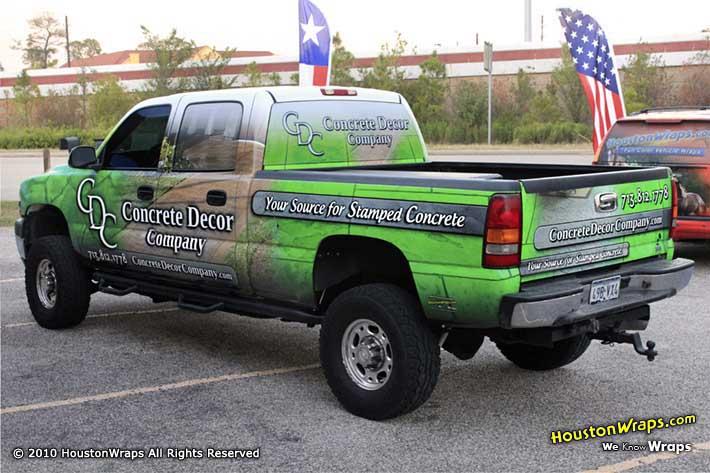 Concrete Decor Company Chevy Silverado Truck Wrap