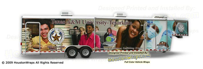 Houston Wraps - Texas A&M Texarcana - Trailer Wrap