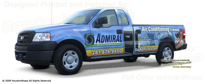 Houston Wraps - Admiral Air Conditioning - Truck Wrap