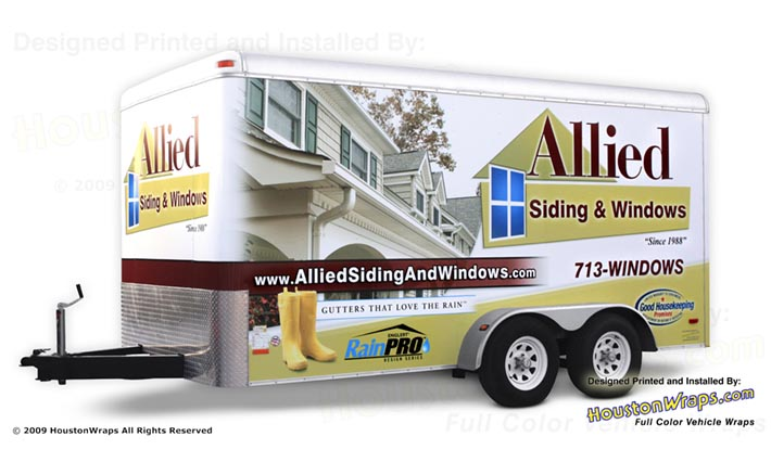 Houston Wraps - Allied - Trailer Wrap