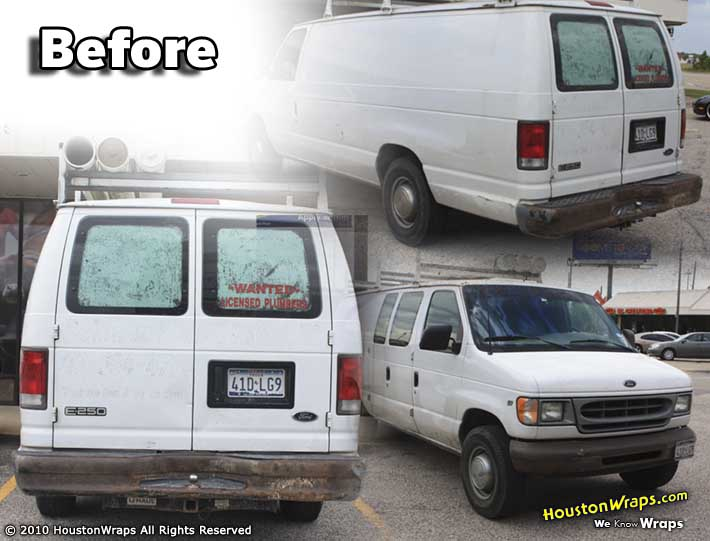 Houston Wraps - Van Wrap - Belnap Plumbing