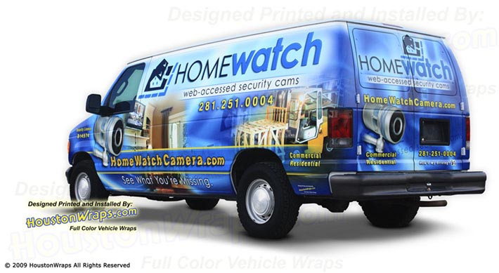 Houston Wraps - Home Watch - Van Wrap