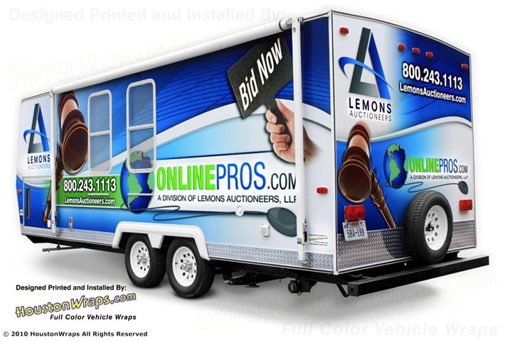 Houston Wraps - Lemons Auctioneers - Trailer Wrap