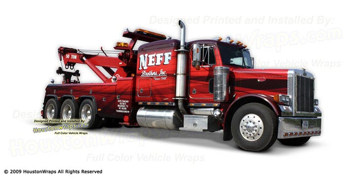 Houston Wraps - Wrecker Truck Wrap - Neff Brothers