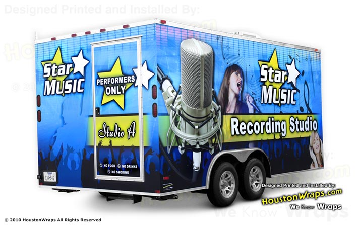 Houston Wraps - Star Music - Trailer Wrap