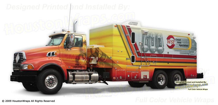 Houston Wraps - WSI - Wireline Truck Wrap