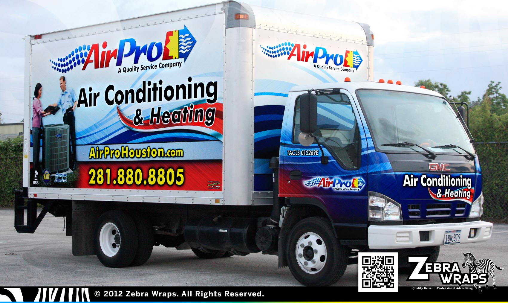 Air Pro Blue Bell Air Conditioning Wrap Zebra Wraps