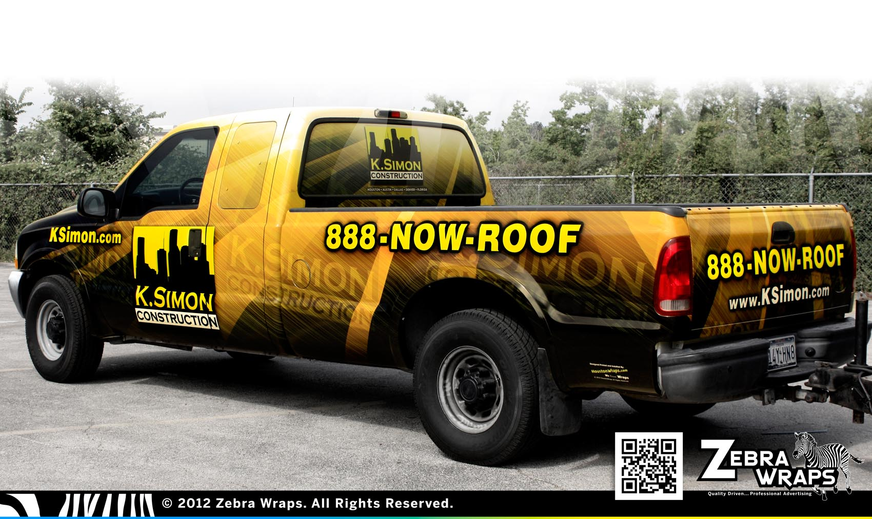 K Simon Jubile Construction Roofing Wrap Zebra Wrap