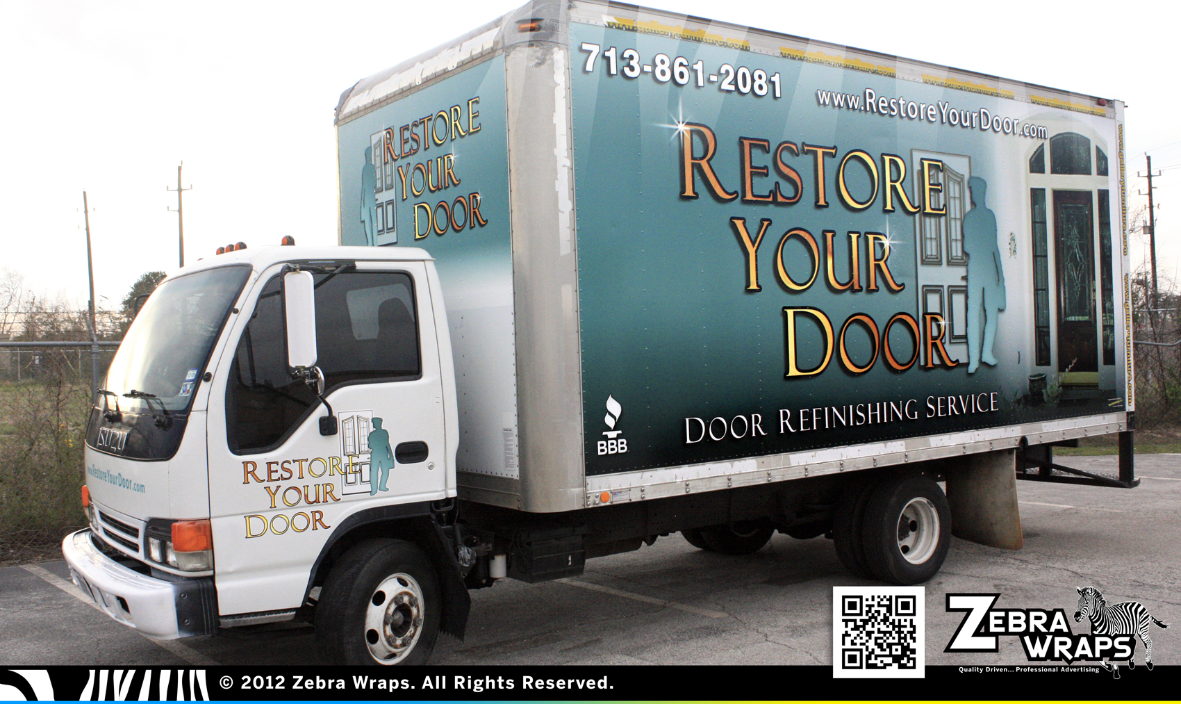 Restore Your Door – Door Restoration Wrap – Zebra Wrap – Houston ...